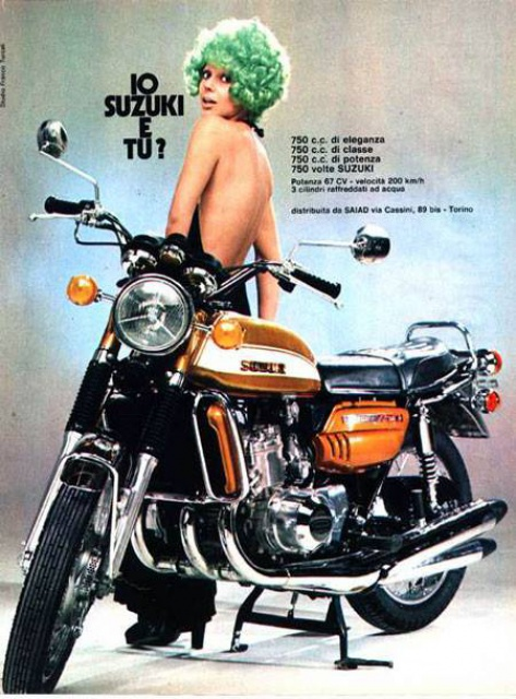 Publicite Suzuki 750GT 1972